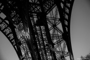 Eiffel Tower Paris Black and White